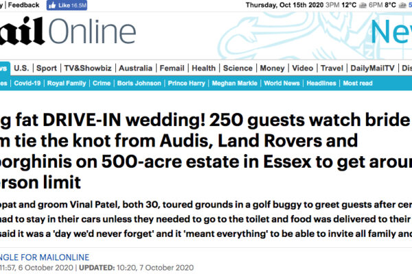 Mailonline clipping - Saheli Events